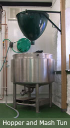 The FILO Brewery - hopper and mash tun
